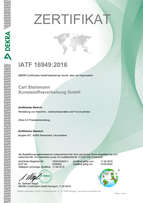 Zertifikat ISO_TS 16949-1